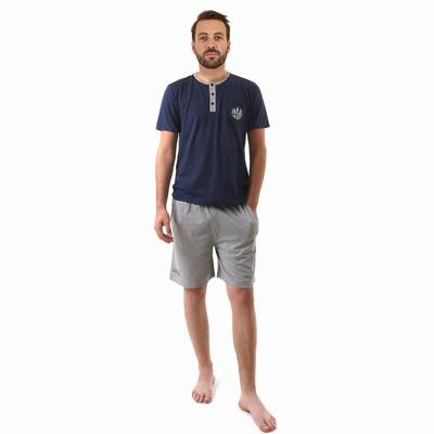 Pyjama en jersey coton.<br>T-shirt manches courtes. Encolure