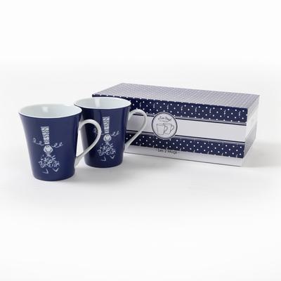 Set de 2 mugs avec packaging inclus. <br>Hauteur: 10cm