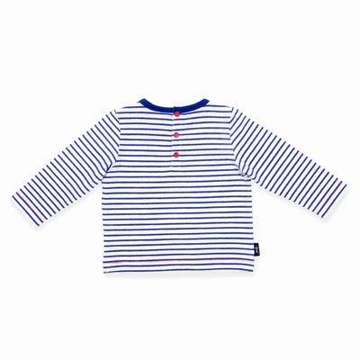 T-shirt manches longues en jersey coton élasthanne. Encolure