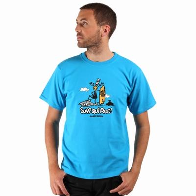 T-Shirt manches courtes A l'Aise Breizh impression Surf qui