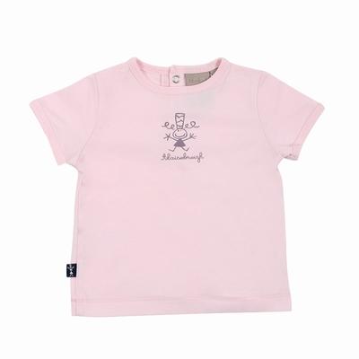 T-shirt manches courtes en jersey coton. Encolure arrondie.