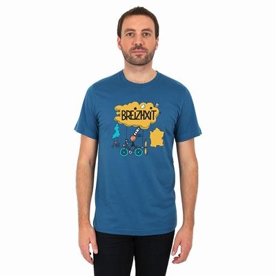 T-Shirt manches courtes A l'Aise Breizh impression breizhxit