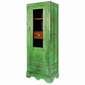 armoire indienne peinte verte teck ancien mobilier indien l114cm sensitive et fils vert. Black Bedroom Furniture Sets. Home Design Ideas