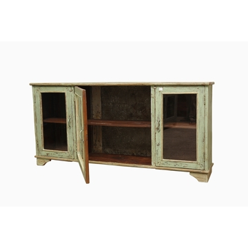 sensitive et fils buffet en teck ancien vert indien. Black Bedroom Furniture Sets. Home Design Ideas