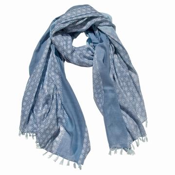 Foulard/Paréo en coton léger aux motifs traditionnels