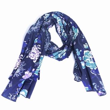 Foulard/Paréo en coton fleuri et aux couleurs pétillantes