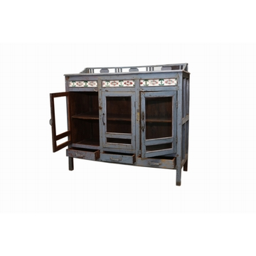 Buffet Carrele En Teck Sensitive et Fils