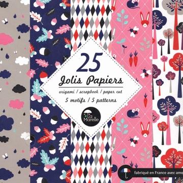 Set 25 Jolis Papiers 12x12 Sensitive et Fils