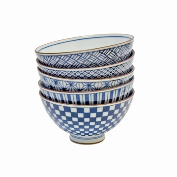 Set 5 Bols Design Bleu Mm Sensitive et Fils