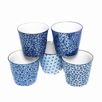 Set 5 Tasses Japonaises Bleu Sensitive et Fils