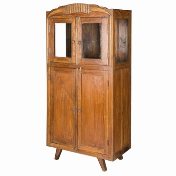 armoire indienne art deco teck ancien l79cm mobilier indien sensitive et fils marron. Black Bedroom Furniture Sets. Home Design Ideas