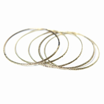 Bracelet Bangle Metal Sensitive et Fils