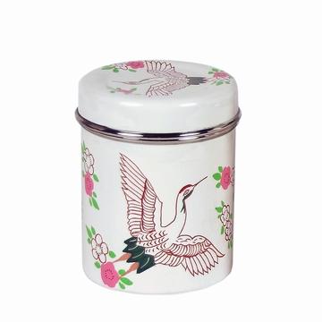 Boîte à thé en inox alimentaire peinte à la main par des
