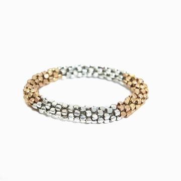 Bracelet Snake Or Et Argent Sensitive et Fils