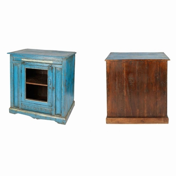 sensitive et fils buffet indien bleu teck ancien vitre piece unique bleu. Black Bedroom Furniture Sets. Home Design Ideas