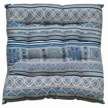 Galette de chaise en Batik fabriquée de façon artisanale en