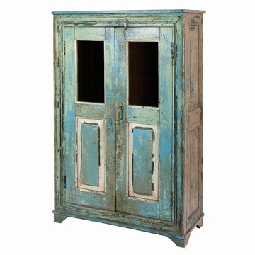 petite armoire indienne rose vieilli teck ancien l87cm. Black Bedroom Furniture Sets. Home Design Ideas