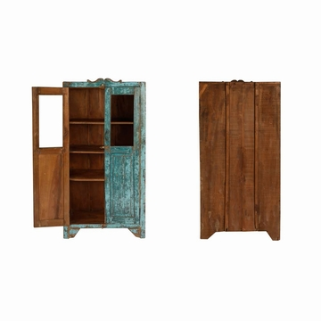 petite armoire vitrine indienne en teck ancien l75cm. Black Bedroom Furniture Sets. Home Design Ideas