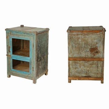 chevet indien teck ancien parme l42cm mobilier indien sensitive et fils bleu. Black Bedroom Furniture Sets. Home Design Ideas