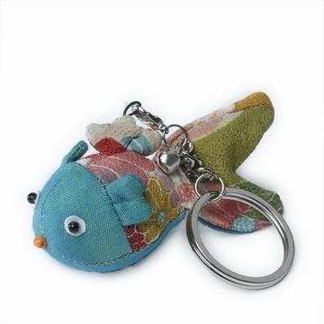 Adorable porte-clé en tissu traditionnel japonais