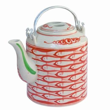 Théière traditionnelle en céramique fabriquée au Vietnam.