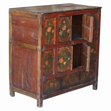 Buffet Tibetain Peint Ancien Sensitive et Fils
