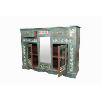 Buffet Ancien En Teck Carrele Sensitive et Fils