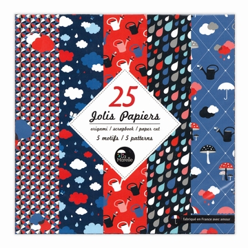 Set 25 Jolis Papiers 15x15 Sensitive et Fils