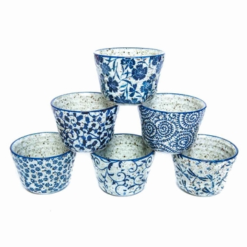 Set 6 Tasses Gres Motifs Japon Sensitive et Fils