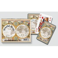 WORLD MAP - 2X55 CARTES