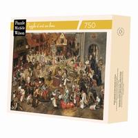 Puzzle d'art en bois de 750 pièces, découpé à la main en