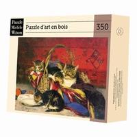 Puzzle d'art en bois de 350 pièces, découpé à la main en