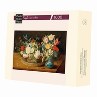 <b>Hand-cut art wooden jigsaw puzzle of 900 pieces - Made in