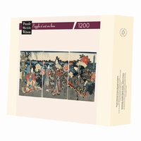 Hand-cut art wooden jigsaw puzzle of 1200 pieces - Made in