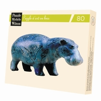 Hand-cut art wooden jigsaw puzzle of 80 pieces - Made in