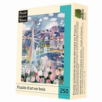<b>Puzzle d'art en bois de 250 pièces, découpé à la main en