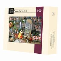 <b>Puzzle d'art en bois de 900 pièces, découpé à la main en