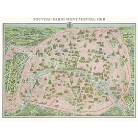PLAN DE PARIS 1910 HC
