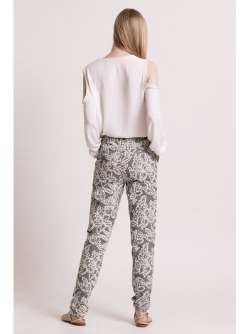 - MADE IN FRANCE - Pantalon coupe droite en jacquard imprimé