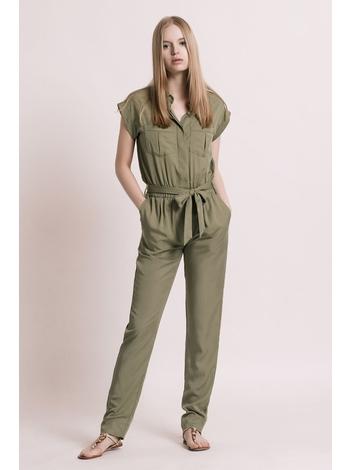- Combinaison pantalon en tencel - Coupe fluide - Sans