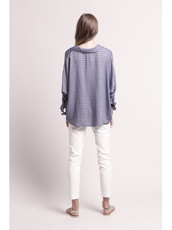 - Pantalon moulant stretch 7/8 ecru - Taille haute - 4