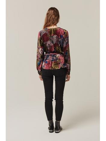 - Top porte feuille en velours dévoré multicolore - Manches