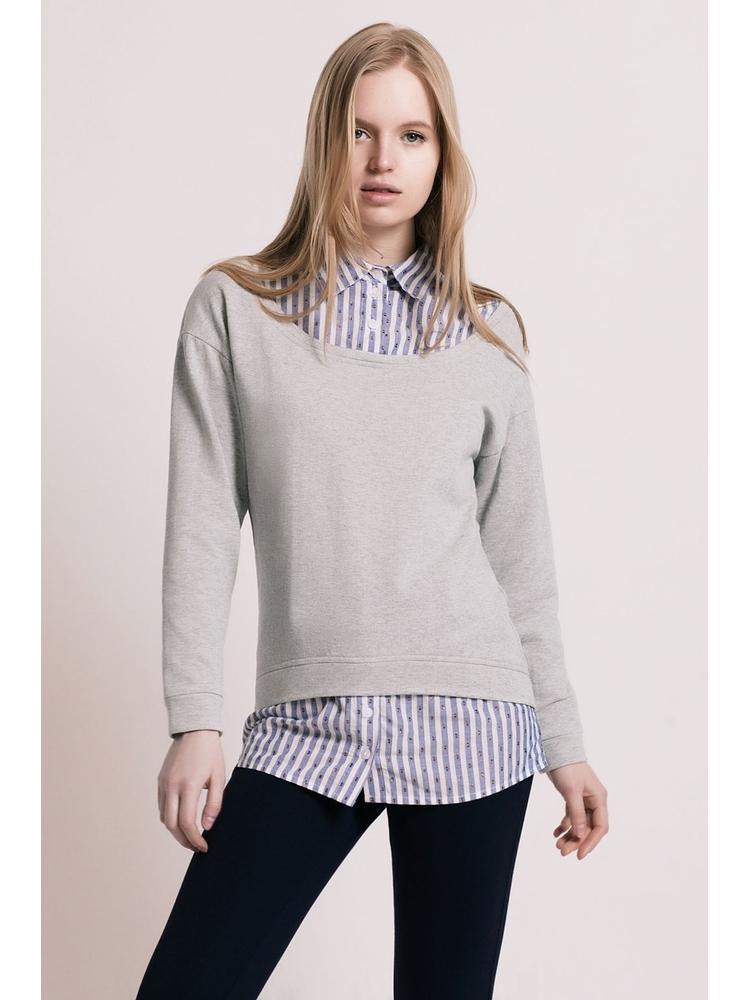 - MADE IN FRANCE - Pull col chemise 2 en 1 - Pull en