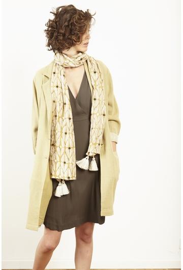 Le manteau MARBRE signé Stella Forest au look casual chic