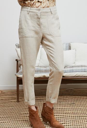 Le pantalon PATCHOULI signé Stella Forest est 100% en Lin