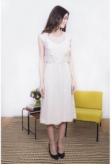 La robe RADIJA signée Stella Forest est tout en plumetis.