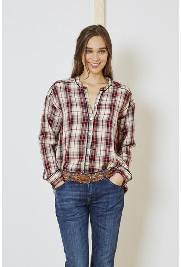 La chemise à carreaux Cléa signé Stella Forest manche longue