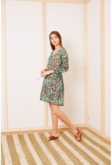 La robe courte BOTANIQUE signée Stella Forest à l'imprimé
