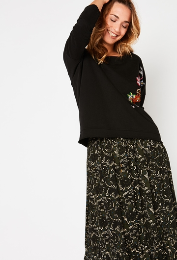 Notre jupe ELLIE : - Taille élastiquée avec cordon ajustable