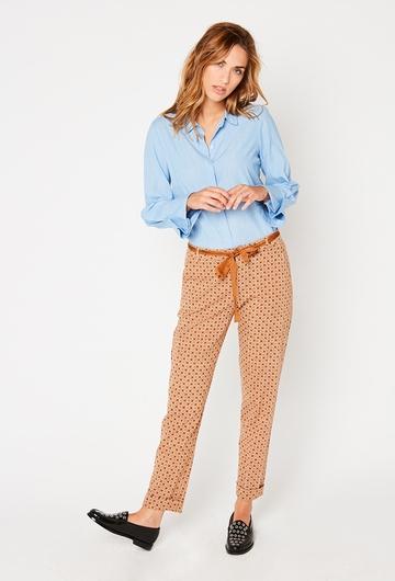 Notre Pantalon Paquerette : - Motifs fleurs - Matiere souple